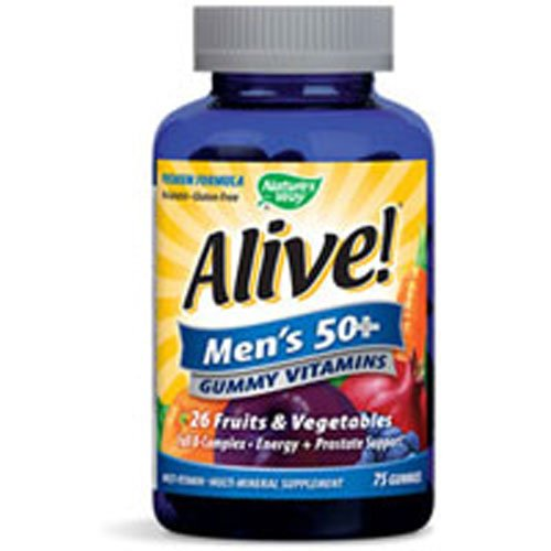 Nature's Way Alive! Men's 50 Plus Gummy Vitamins, 75 GUMMIES (Pack of 2)