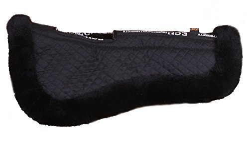 Relief Half Saddle Pad (Large, Black) (Wither Half Wool)