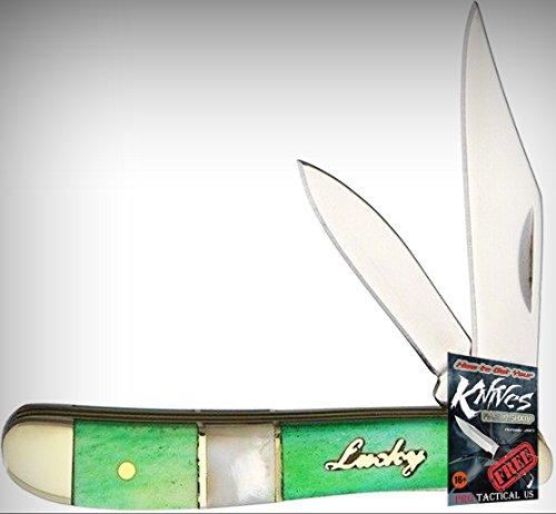 Frost Cutlery FUL107GBMP Uncle Lucky Peanut Folding Limited Elite Knife Clp/Pen Grn/MOP Folder + free eBook by ProTactical'US ()