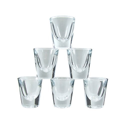 Whiskey Shot Glasses - 1 oz - Set of 6