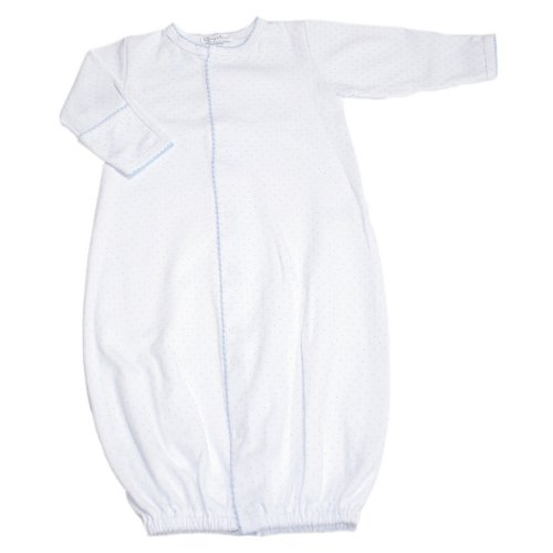 (Kissy Kissy Baby Dots Convertible Gown-White with Blue)