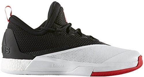 adidas Performance Hombre Crazylight Boost 2.5Low Harden PE Zapato de Baloncesto Black/Scarlet/White