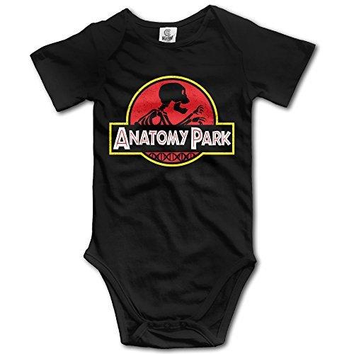 TV Series Anatomy Park Rick And Morty Logo Baby Girls Black Romper Bodysuit