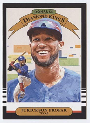 Kings Diamond Baseball Donruss - 2019 Donruss #15 Jurickson Profar Texas Rangers Diamond Kings Baseball Card