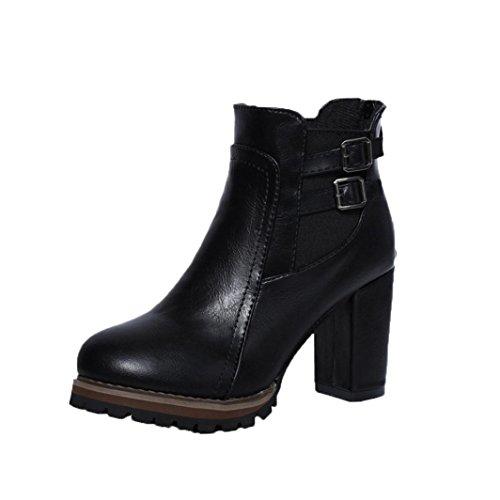 Hiver Cheville Boots AMUSTER Bottines Bottes Femme Automne Martin UBqnpqO