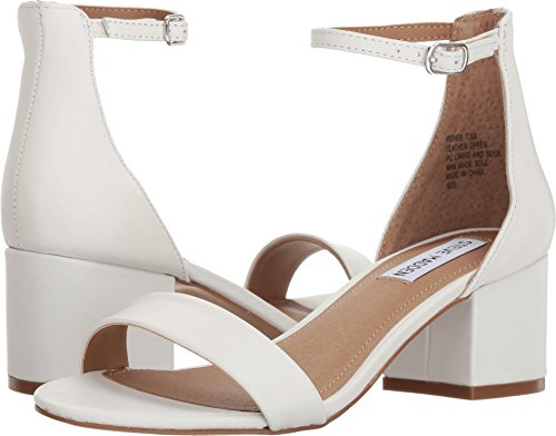 Steve Madden Women's Irenee Sandal White Leather 5 M US