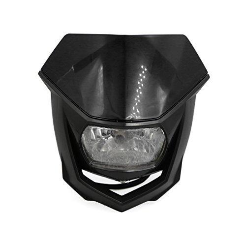 (DealMux Black Shell Motorcycle Streetfighter Headlight Fairing Indicator Lamp Yellow)