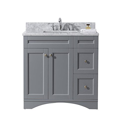 Virtu Usa Es 32036 Wmsq Gr Nm Elise 36  Single Bathroom Vanity Set  Grey