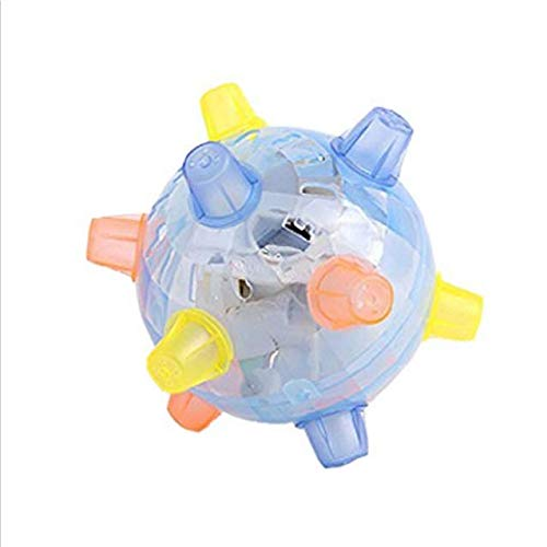 Xinshe Flashing Musical Ball LED Jumping Ball Music Bouncing Toy Ball Jumping Activation Ball Light Up Interactive Ball with Led Lights for Dogs Cats Kids (Random Color)