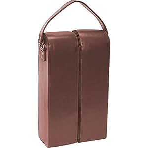 Royce Leather Double Wine Presentation Case - Genuine Leather - Coco