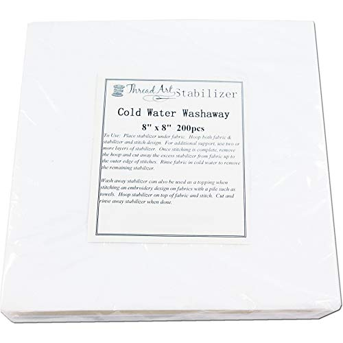 Threadart Cold Water Washaway Embroidery Stabilizer | 8