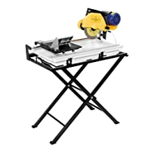 QEP 60020 24-Inch Dual Speed Tile Saw with Water Pump and Folding Stand