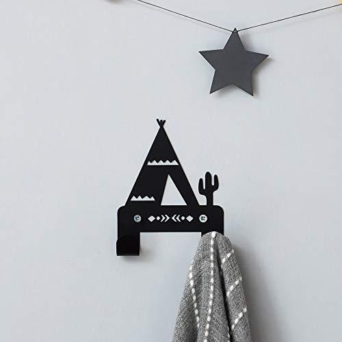 (Designer Metal Wall Hanger, Teepee Wall Hook - With 2 Hooks,)