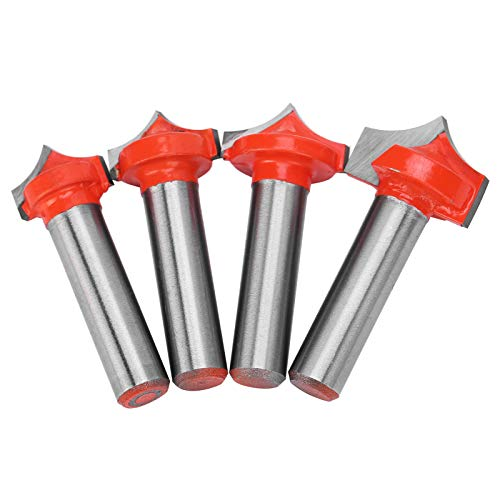 4 stks Houtbewerking Cutter Nauwkeurige Positionering Frees 8Schacht Cutter Boor Set 4 stks Houtbewerking Frezen voor Graveermachines