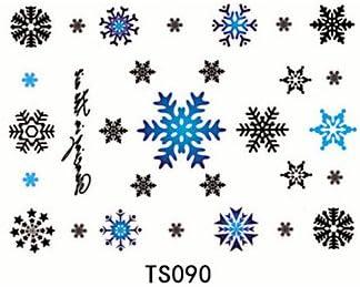 hjlwst® 1pcs 3d Tattoo impermeable Copo de nieve: Amazon.es ...