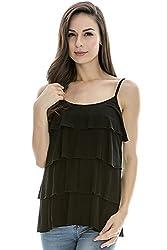 Bearsland Women's Maternity Nursing Tank Top and Cami Shirts Black Size S