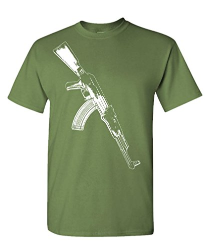 AK-47 - auto assault rifle gun rights Tee Shirt T-Shirt, M, Military