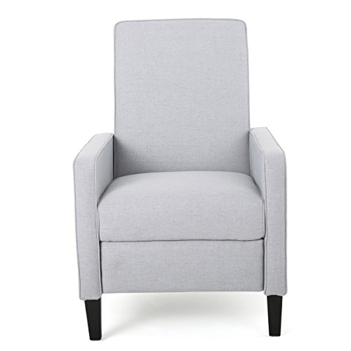 Drake Light Grey Fabric Recliner Club Chair Review
