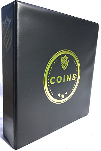 Coin Collector Album Binder Starter Kit With 20-Pocket Pages & Flips By Hobby Guard (Black, 2-Inch)