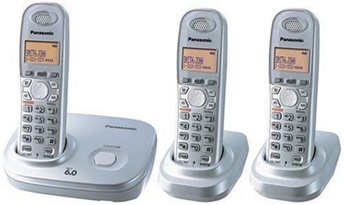Panasonic Dect 6.0 Expandable Digital Cordless Phone - 3 Handset System (Panasonic Silver Expandable Telephone)