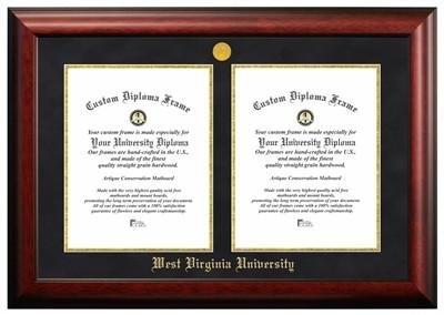 west virginia university double degree diploma frame - Wvu Diploma Frame