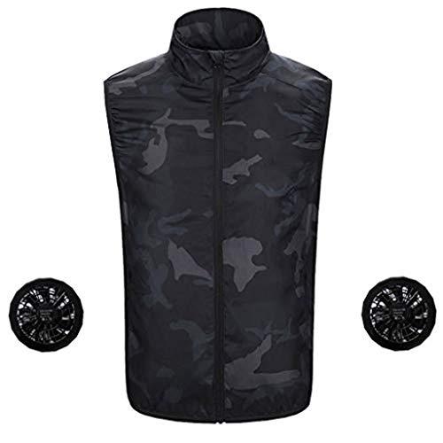 (✿HebeTop✿ Fashion Zip Hoodie Conditioning Heatstroke Jacket Outdoor Working Tops Camouflage)