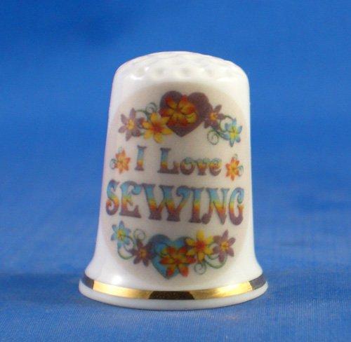 Para porcelana Coleccionable de dedal de costura para Love