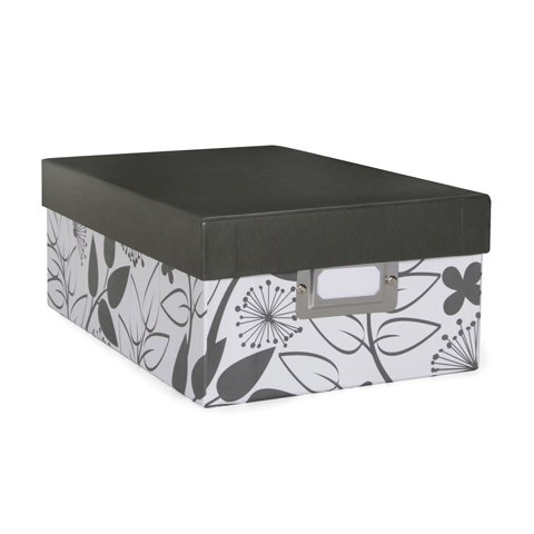 Photo Storage Box - Floral Print - 7.5 x 4 x 11 inches