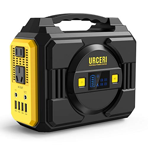 URCERI Portable Power Station, 200Wh Emergency Backup Lithium Battery Pack Solar Generator with Dual 110V AC, DC 12.6V, USB Ports Pure Sinewave for Outdoors Camping Travel Fishing Hunting Uncategorized