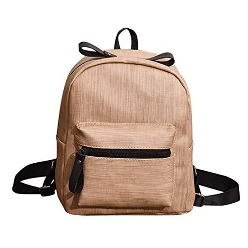 Bag Shoulder Fashion Girls EUzeo Leather Bag Children Khaki Backpacks Student School Travel qUSIw