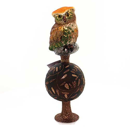 Inge Glas Up in the Tree Tops Owl Bird German Glass Christmas Tree Topper New by Glass
