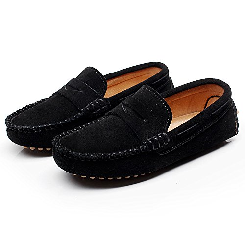 Pictures of Shenn Boys' Cute Slip-On Suede Leather S8884 5