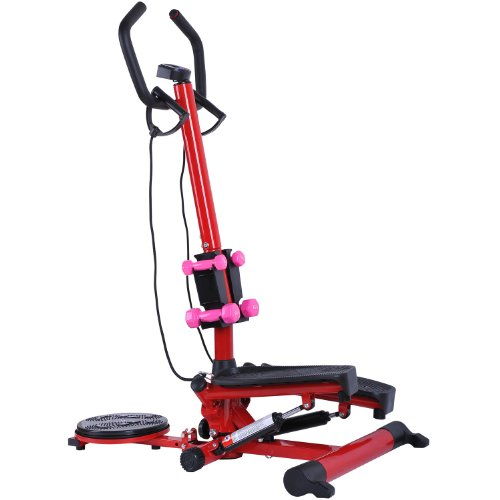 Soozier Aerobic Waist Twister/Stepper Fitness Machine w/ Dumbbells