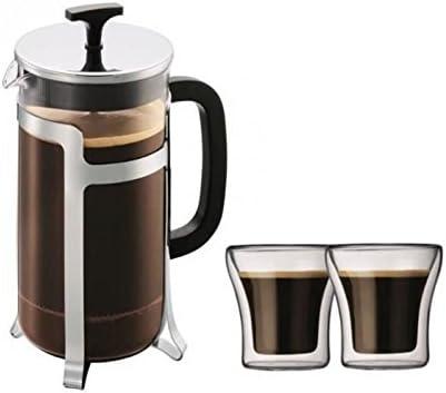Bodum Jesper Set Cafetiere a pistón (1 L, acero inoxidable + 2 vasos Assam 0,1 l: Amazon.es: Hogar