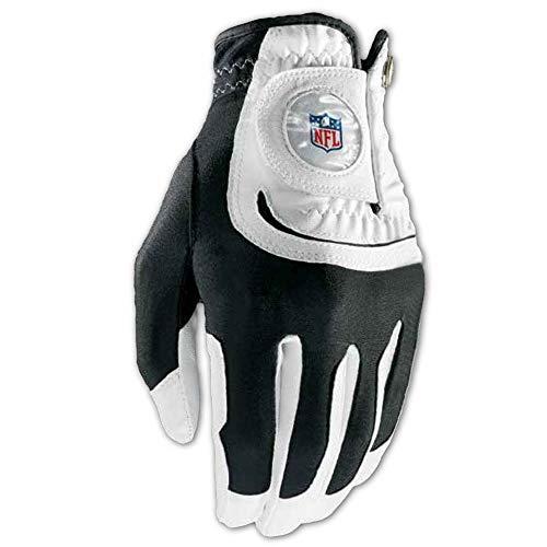 Wilson Staff NFL Fit All Men's Left Hand Golf Glove, One Size, White (Wilson Nfl Golf Cart Bag)