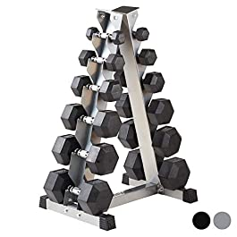 Mirafit 2kg-40kg Hex Dumbbells Set & Storage Tree &#821...