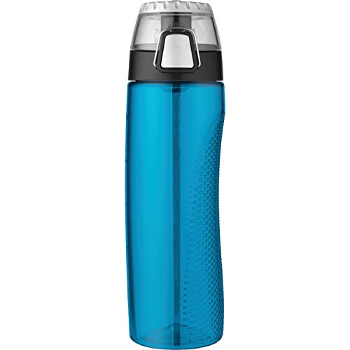 Thermos 24 Ounce Tritan Hydration Bottle with Meter, Teal (Bottle Hydration Ounce 24)