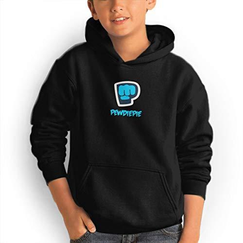 (Don Washington Pewdiepie Youth Hoodies Fashion Sweatshirts Pullover Black)