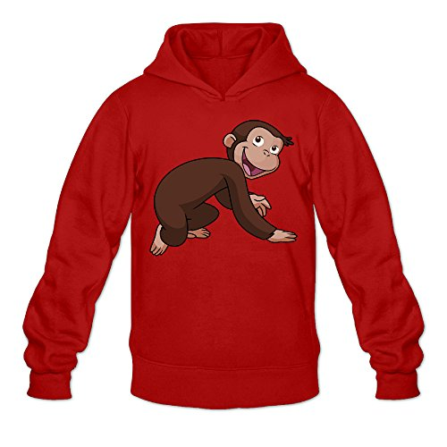 Chris-T Curious George Men's Long Sleeve Hoodieds Red US Size L]()