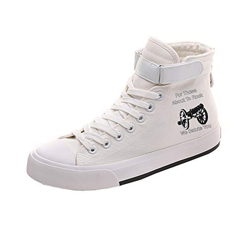 Alta Lona Ocasionales Lazada Ayuda White12 Pareja Popular Acdc De Zapatos Transpirables aHIUqFEY