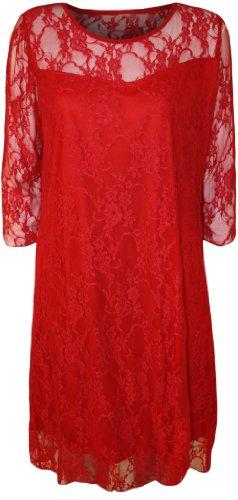 Color Talla Imagen Para 4 Mujer Less Descripción vestido De Fashion Ver Rosso nSA6wqU7nx