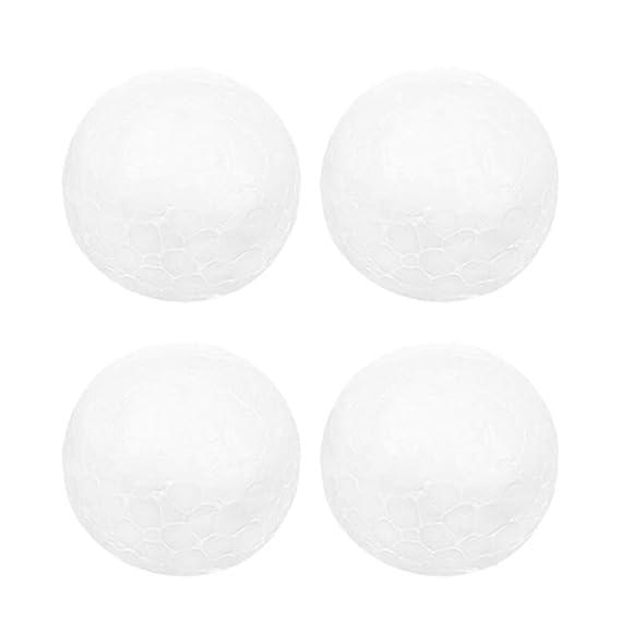 STOBOK 10 piezas bolas de espuma de poliestireno bolas de espuma artesanales para manualidades y modelado decoraciones para /árboles de navidad favores de fiesta 9 cm