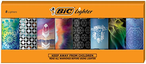 Bic Lighters Wholesale - BIC Special Edition Bohemian Series Lighters, Set of 8 Lighters