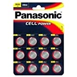 12 X Panasonic CR2032: Pilas 3V de litio, DL2032, BR2032, KCR2032, LM2032