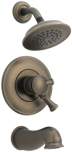 Delta Lockwood 17440-PT Monitor Scald-Guard Tub & Shower w/Volume Control, Aged ()