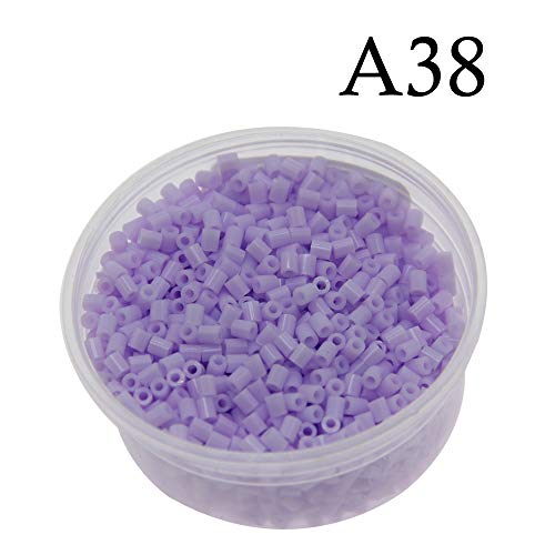Canutillos mini beads 2.6mm (2000 unidades) violeta