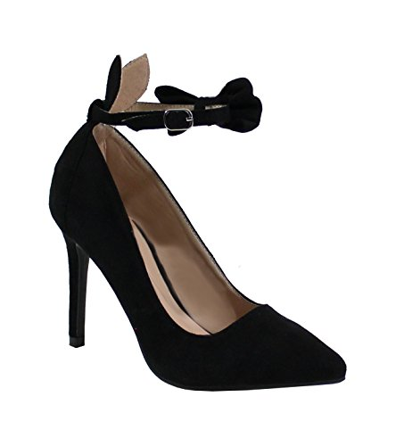 Escarpin Shoes By Aiguille Style Daim Femme By Talon Noir Shoes PwOtEW4q