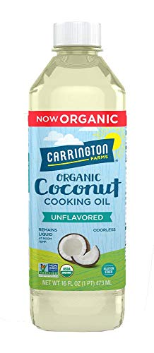 Carrington Farms gluten free, hexane free, NON-GMO, free of hydrogenated and trans fats in a BPA free bottle, liquid coconut cooking oil, unflavored, 16oz (ounces) (Virgin Coconut Oil Brands In The Philippines)