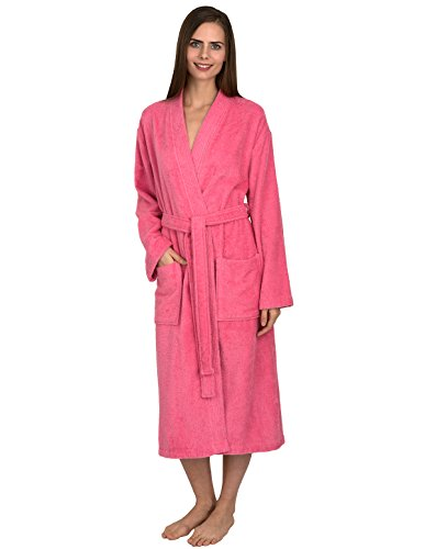 TowelSelections Women's Robe Turkish Cotton Terry Kimono Bathrobe Medium/Large Morning Glory