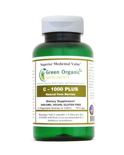 Vitamin C - 1000 Plus, from Natural Berries, High Absorbable, 90 VCaps, Non-GMO, Vegan, Gluten Free, Made with Organic, Wild-Crafted, and Natural Ingredients